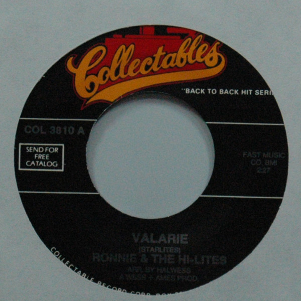 Valarie b-w The Fact Of The Matter 7inch, 45rpm