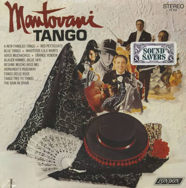Mantovani Tango (LP, Cut-Out)