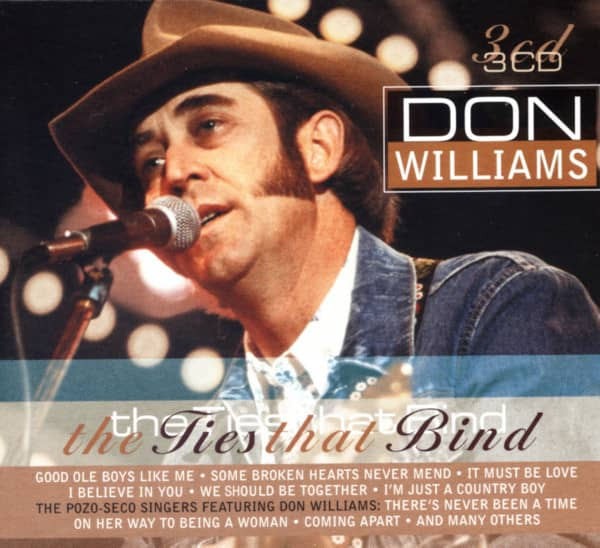 Don Williams CD: The Ties That Bind (3-CD)