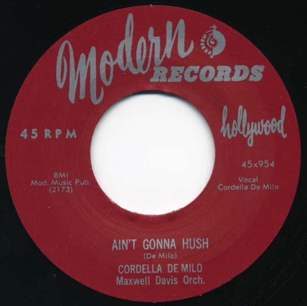 Ain't Gonna Hush - Lonely Girl 7inch, 45rpm