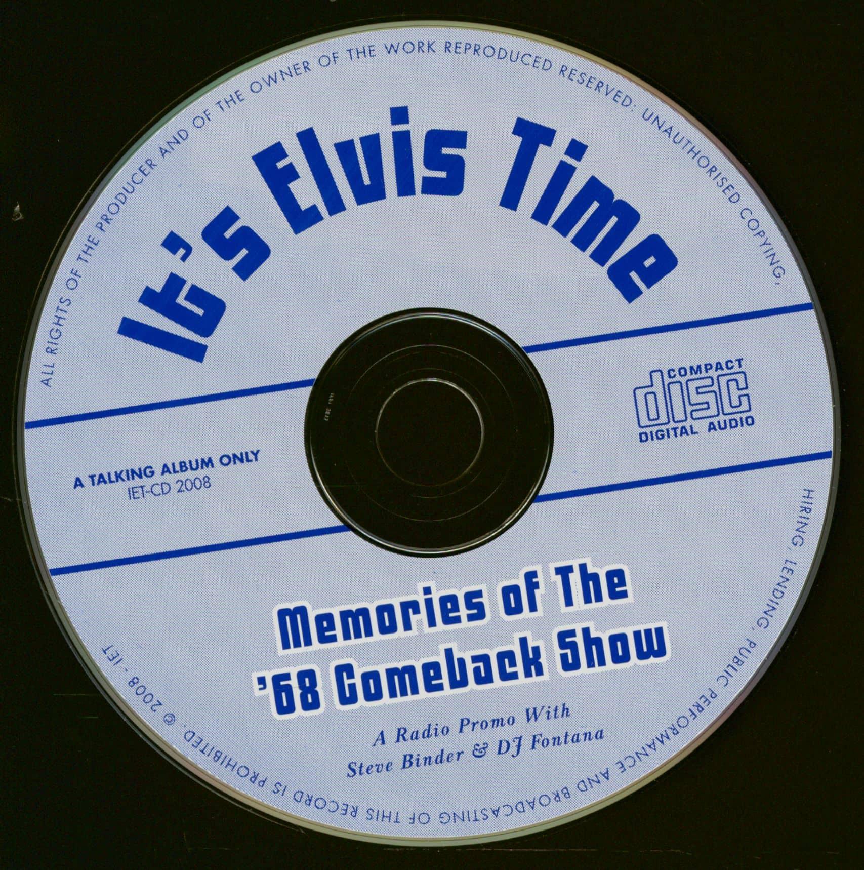 Elvis Presley CD: Memories Of The '68 Comeback Show