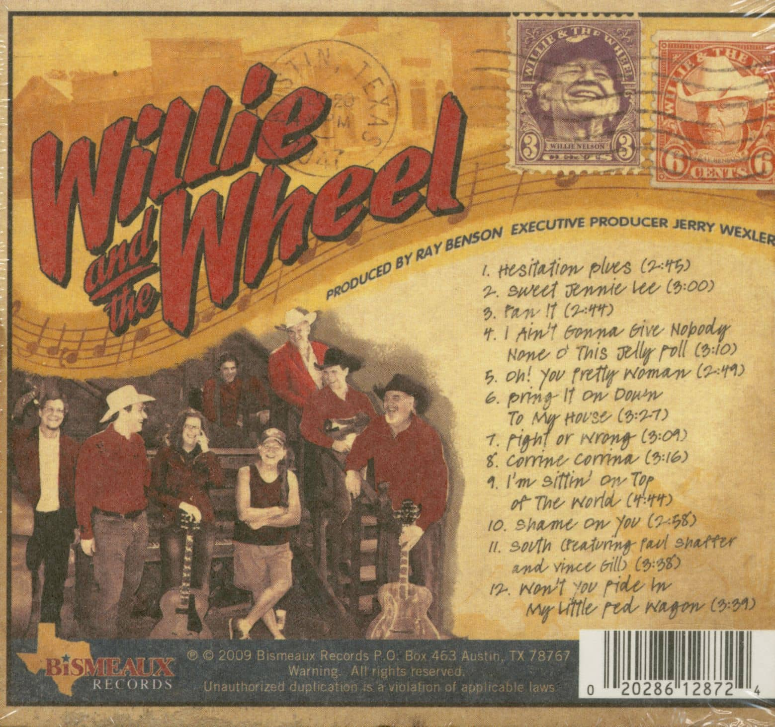 Willie Nelson Amp Asleep At The Wheel Cd Willie Amp The Wheel