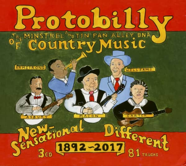 Protobilly - The Minstrel & Tin Pan Alley DNA Of Country Music (3-CD)