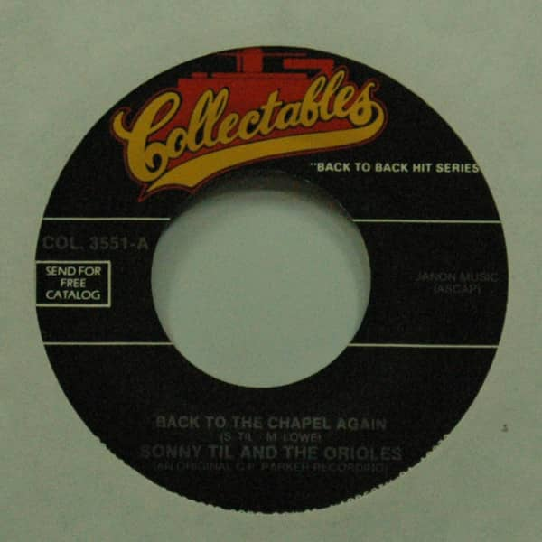 Back To The Chapel Again b-w The Wobble 7inch, 45rpm