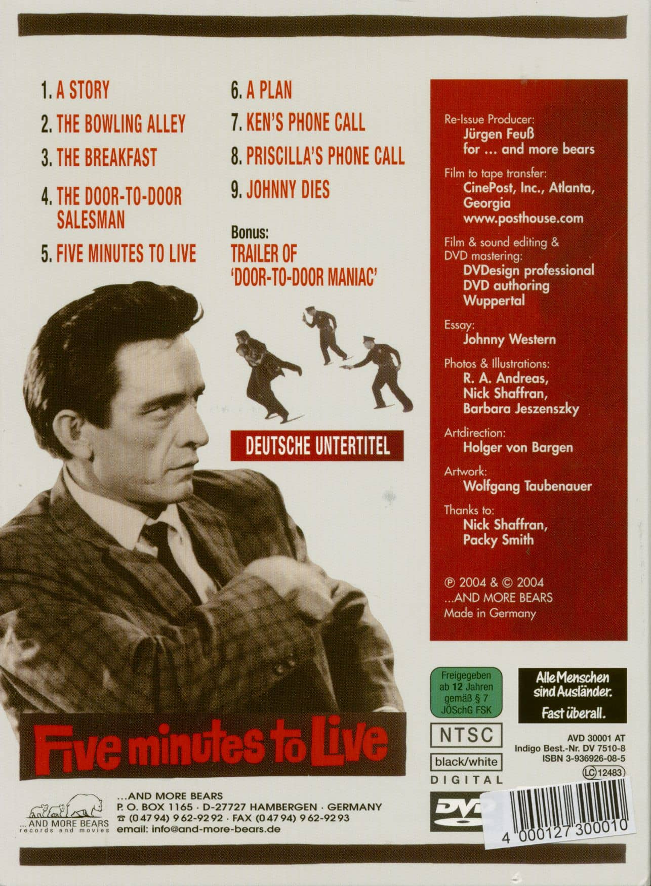 Johnny Cash Repro Film POSTER 5 Minutes to Live
