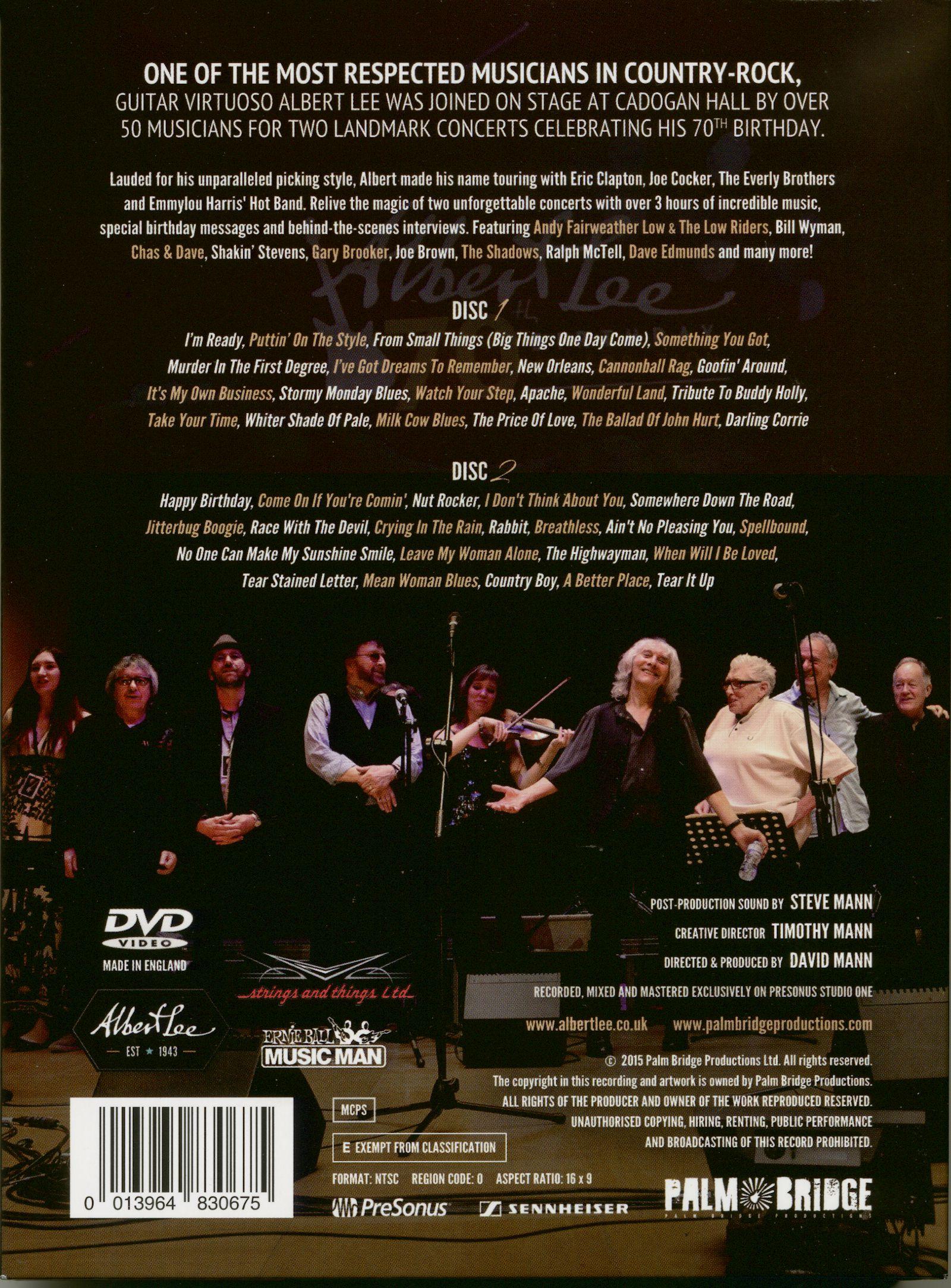 Albert Lee DVD: 70th Birthday Celebration (2-DVD) - Bear Family Records