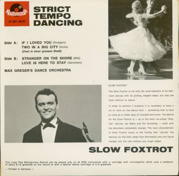 Strict Tempo Dancing- Slow Foxtrot (7inch, 45rpm, EP, PS)