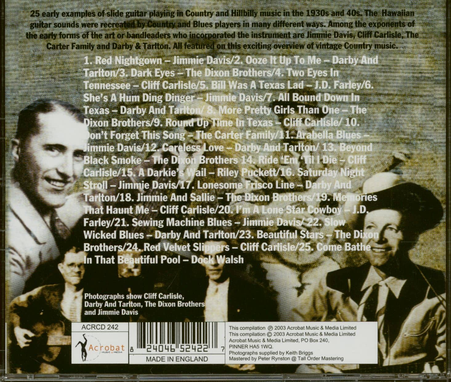 Various Country Slide (CD)