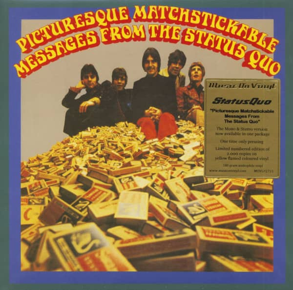 Picturesque Matchstickable Message From The Status Quo (2-LP, Colored 180g Vinyl, Ltd.)