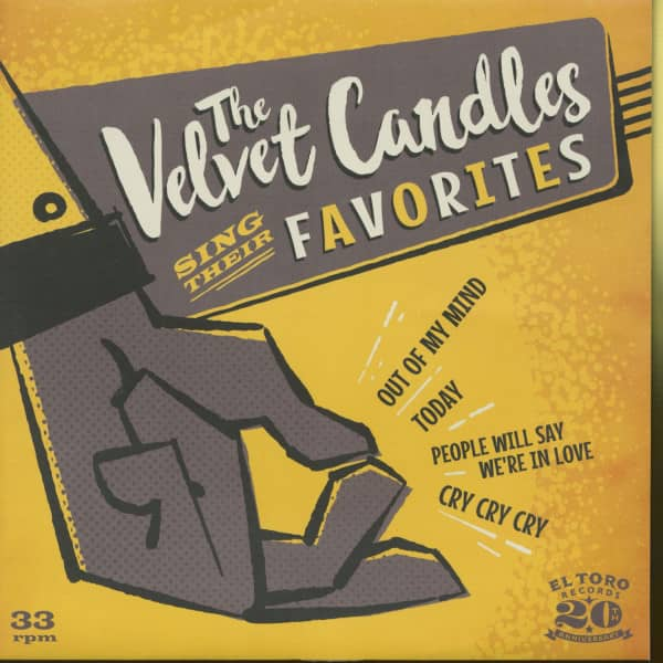 The Velvet Candles Sing Their Favorites (7inch, EP, 33rpm, PS, BC)