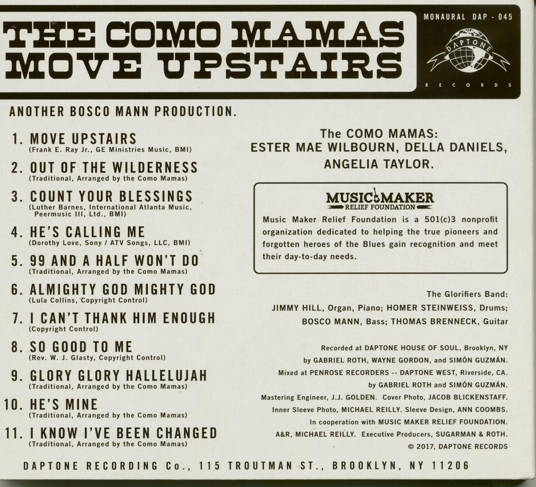 Como Mamas Move Upstairs CD