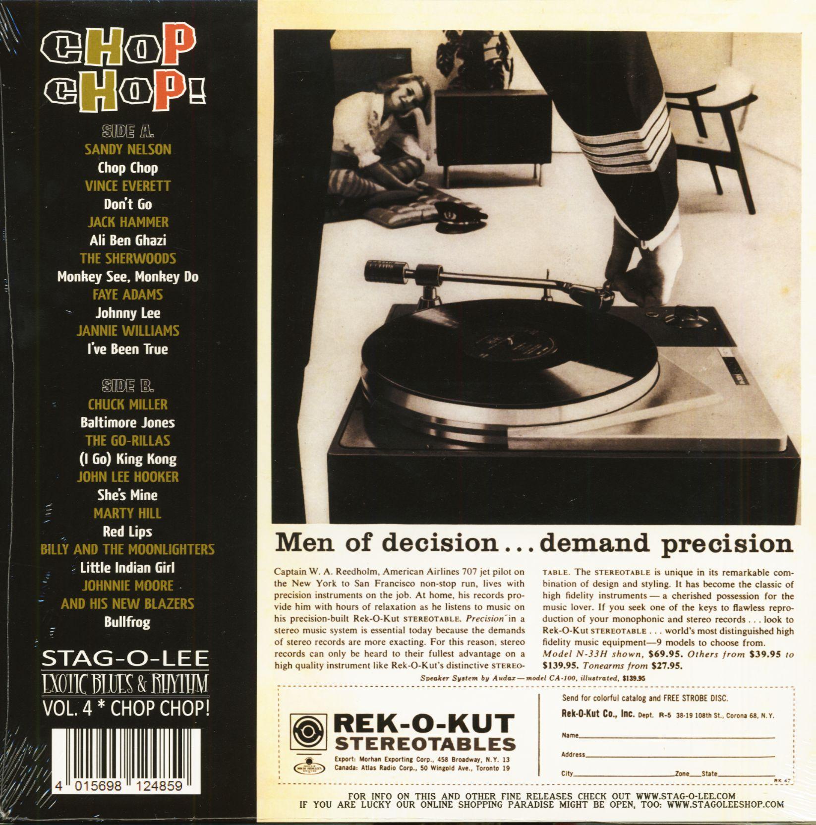 Various Chop Chop! (LP, 10inch, Clear Vinyl, Ltd )