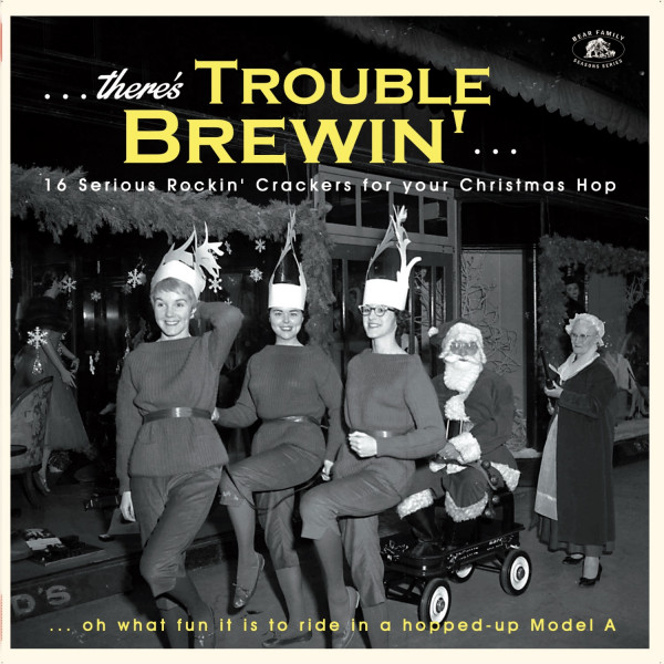 There's Trouble Brewin' - 16 Serious Rockin' Crackers for your Christmas Hop (LP, Green Vinyl)