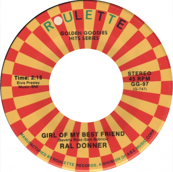 Girl Of My Best Friend - To Love Someone 7inch, 45rpm