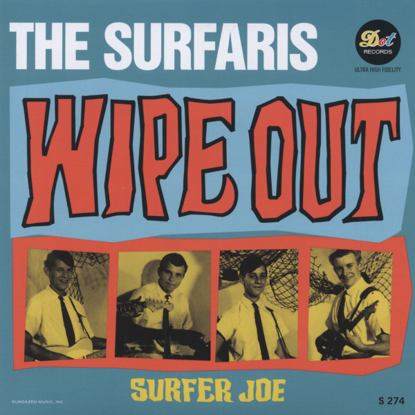 Wipe Out b-w Surfer Joe 7inch, 45rpm, PS
