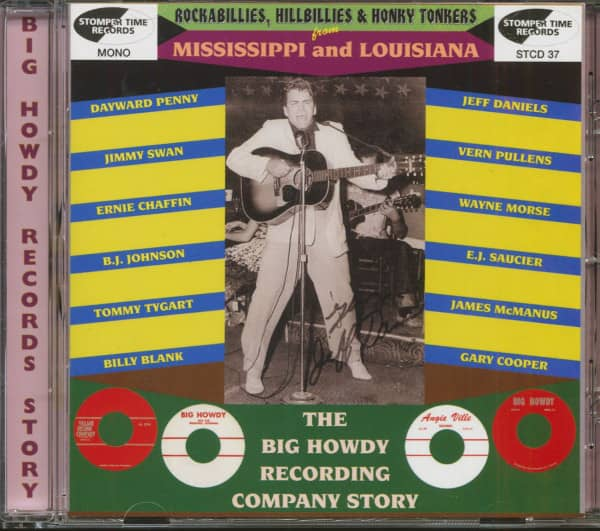 Rockabillies, Hillbillies & Honky Tonkers From Mississippi & Louisiana - Big Howdy Records Story (CD)