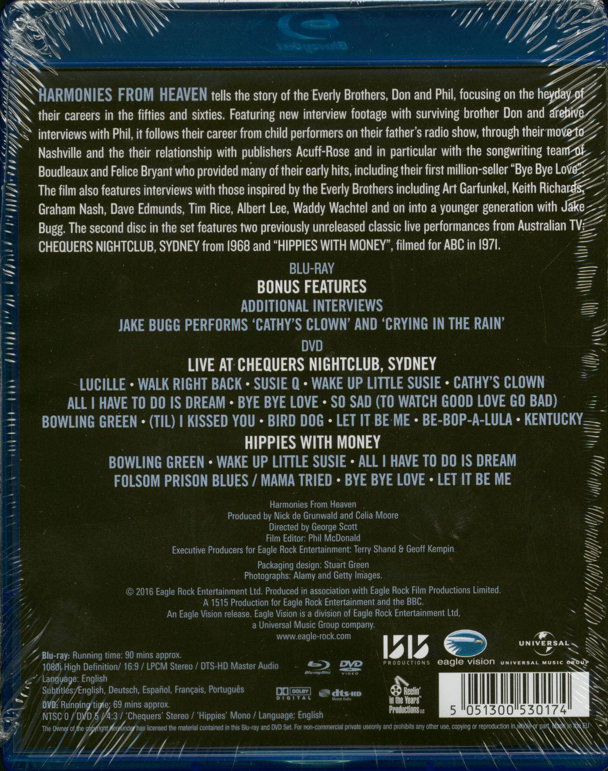 The Everly Brothers Harmonies From Heaven (Blu-Ray + DVD Set)
