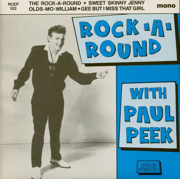Rock-A-Round With Paul Peek (7inch EP, 45rpm, PS, SC) second pressing