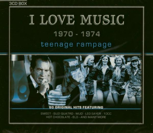 Teenage Rampage - I Love Music 1970-1974 (3-CD)