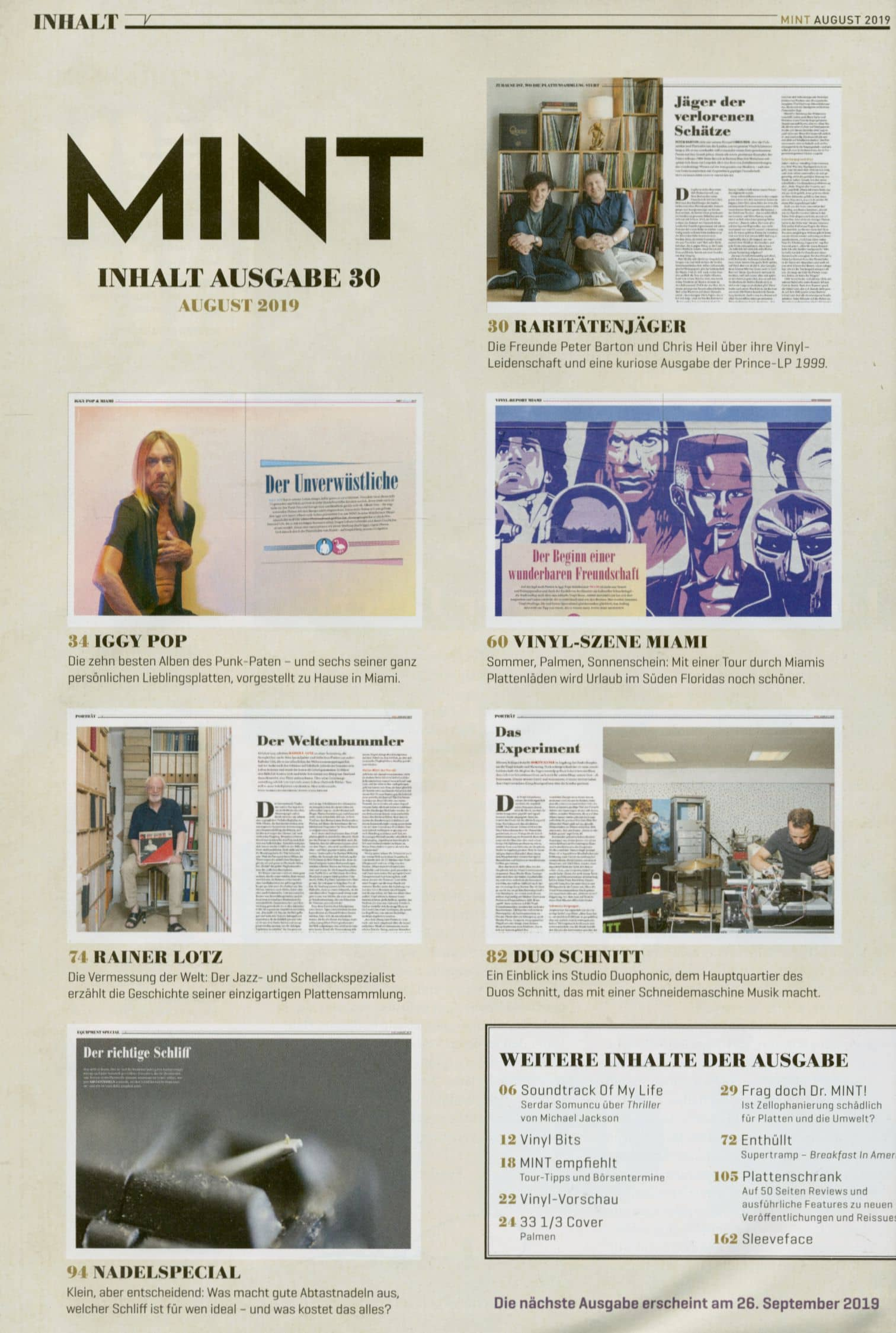 Mint - Magazin Für Vinyl Kultur Mint Magazin #30, 08/19