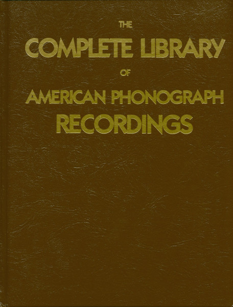 The Complete Library Of American Phonograph Recordings 1959