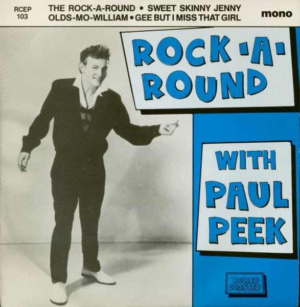 Rock-A-Round With Paul Peek (7inch EP, 45rpm, PS, SC) first pressing