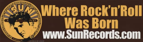 Where R&R Was Born - Bumper Sticker 25x7.5 cm