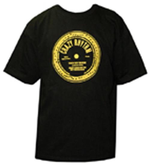 Crazy Rhythm Logo (black - yellow) Front & Back