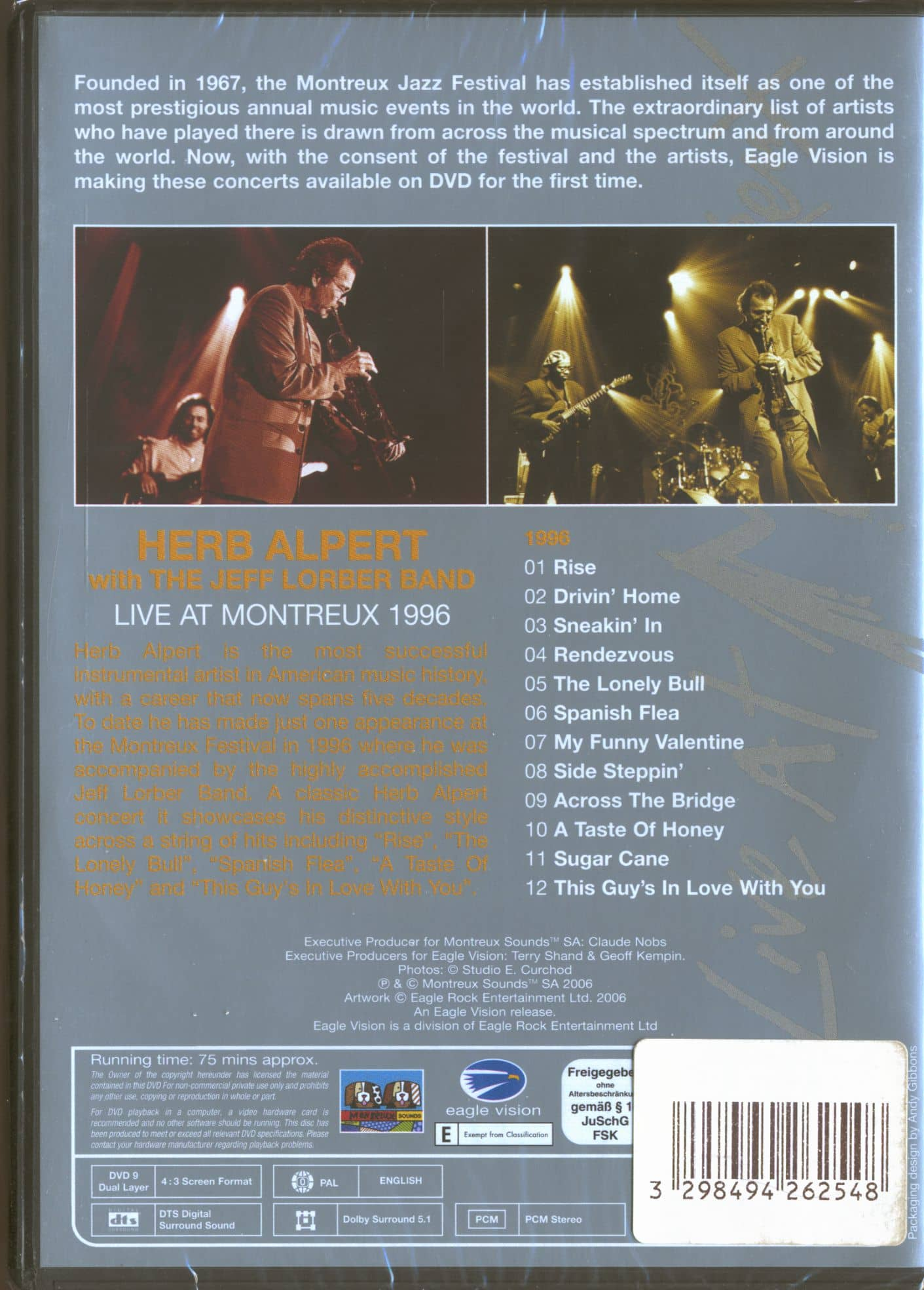 Herb Alpert with The Jeff Lorber Band Live At Montreux 1996 (DVD)