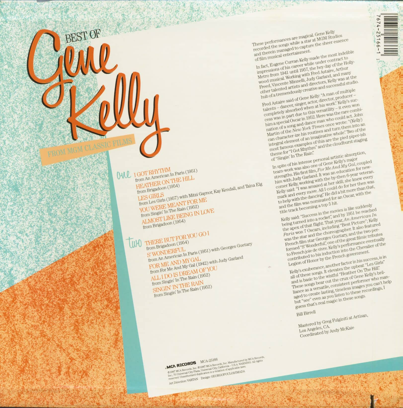 Preview Best Of Gene Kelly From Mgm Clic Films Lp