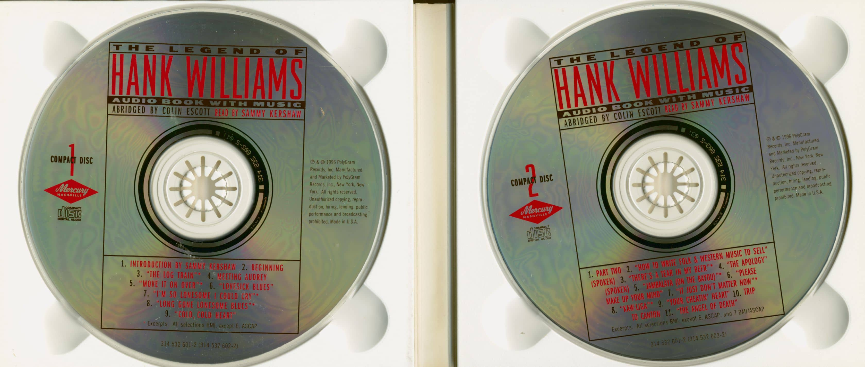 Hank Williams The Legend Of Hank Williams - Audio Book with Music (2-CD)