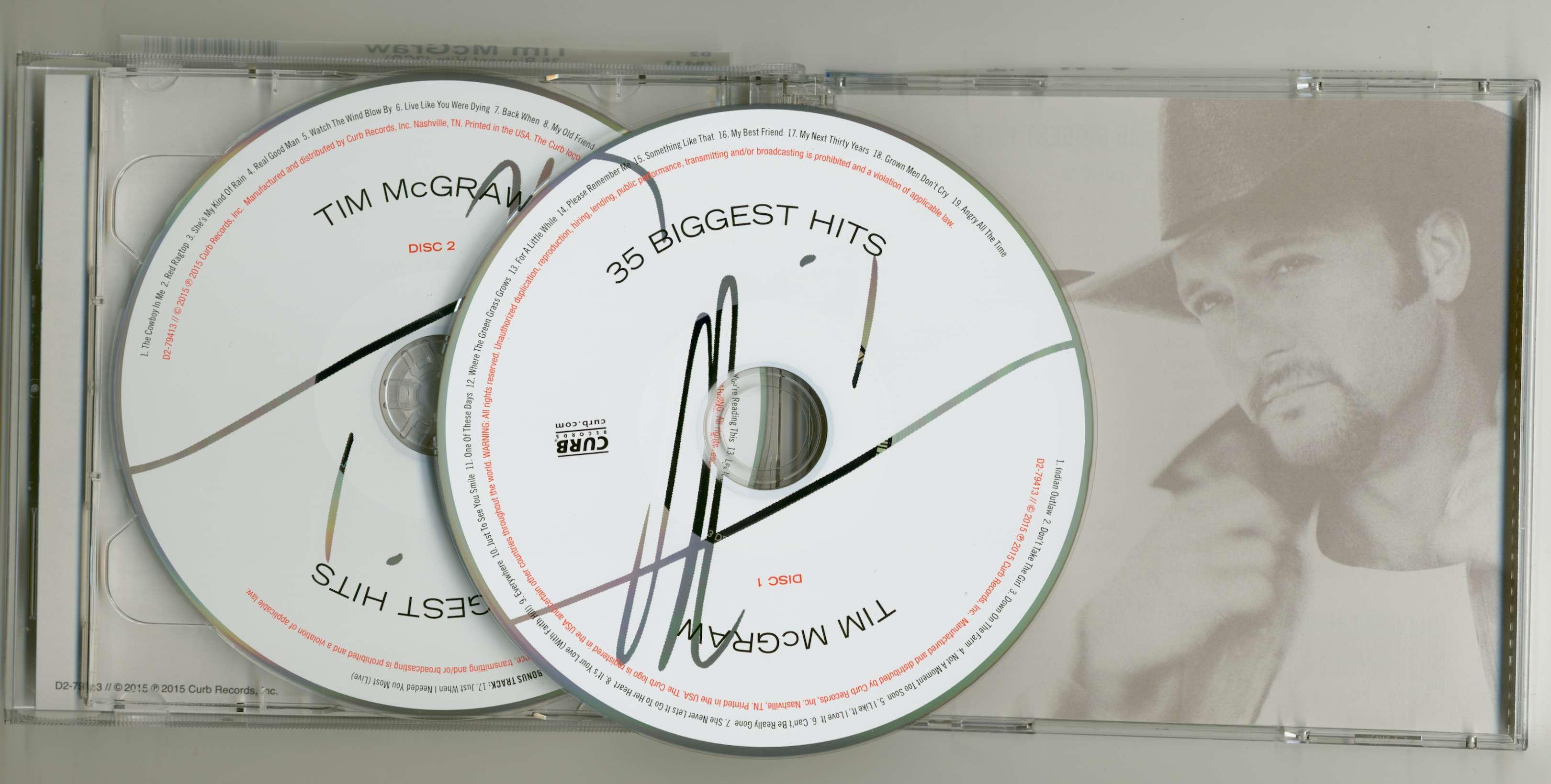 tim mcgraw cd 35 biggest hits 2 cd bear family records