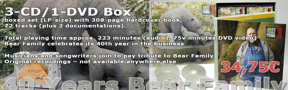 40 Years Bear Family Records (3-CD/1-DVD)