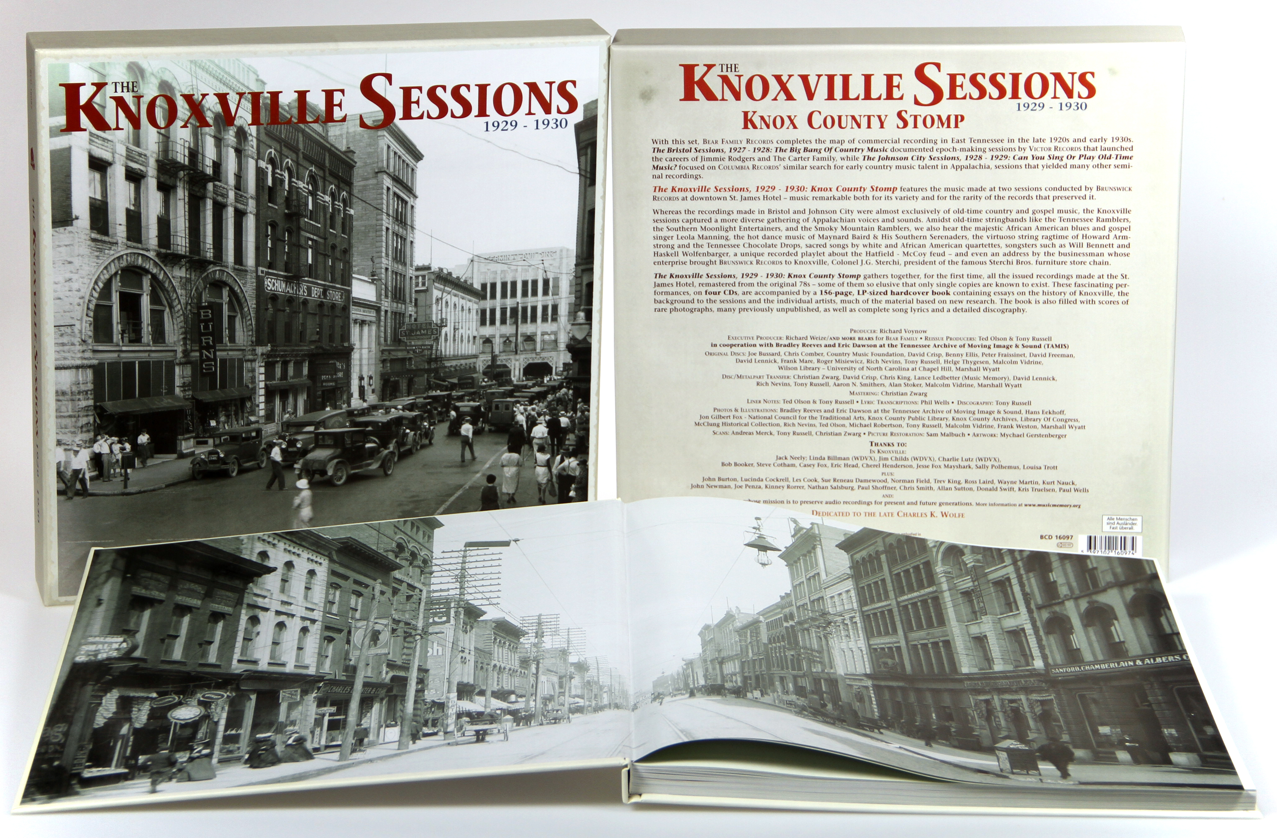 Various - Historic Sessions The Knoxville Sessions 1929 - 1930, Knox County  Stomp (4-CD Deluxe Box Set)