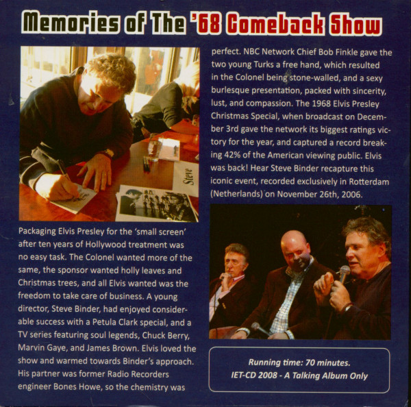 Memories Of The '68 Comeback Show - A Radio Promo With Steve Binder & DJ Fontana (CD)