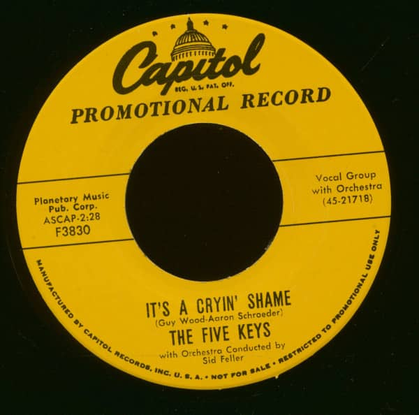 It's A Cryin' Shame - You're For Me (7inch, 45rpm)