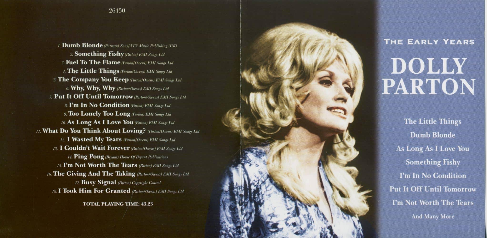 45f49fe57ca47 Dolly Parton CD: The Early Years (CD) - Bear Family Records