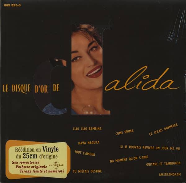 Le Disque D'Or De Dalida (1956) 10inch LP Limited Edition