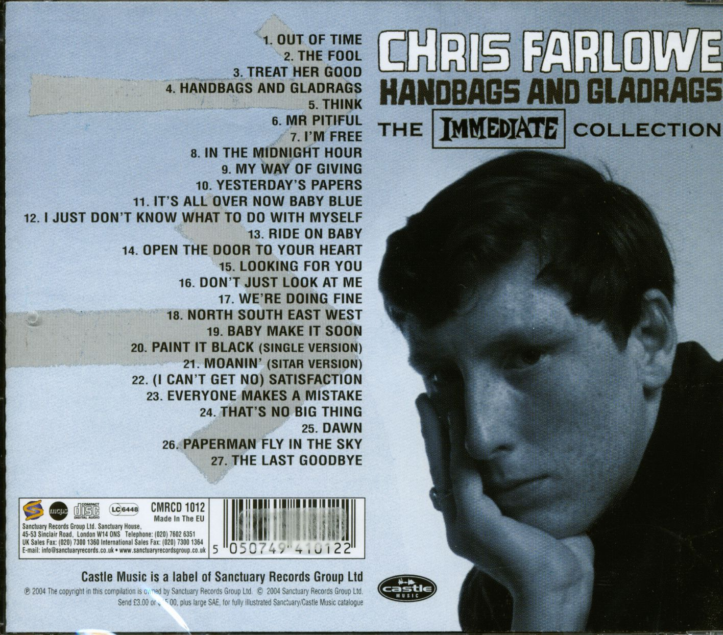 d6724d27eb Chris Farlowe CD  Handbags And Gladrags - Immediate Collection (CD ...