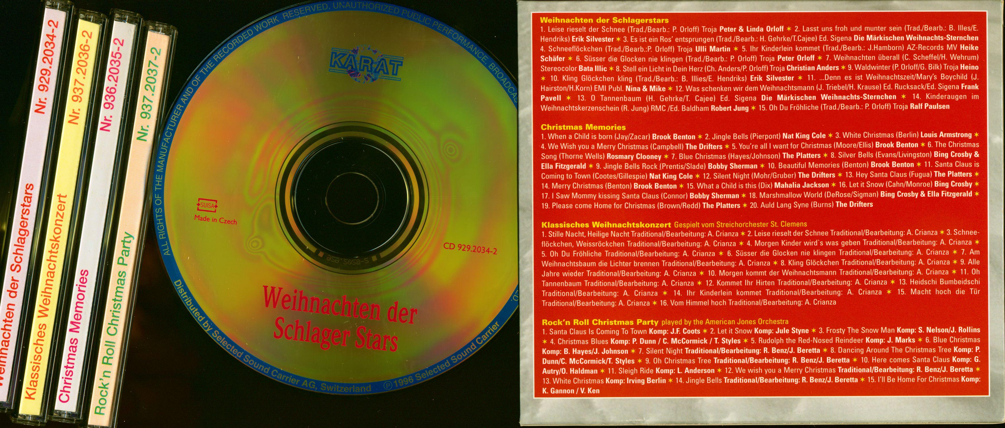 various cd unsere sch nsten weihnachtslieder 4 cd. Black Bedroom Furniture Sets. Home Design Ideas