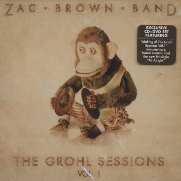 Zac Brown Band Cd The Grohl Sessions Vol 1 Cd Dvd