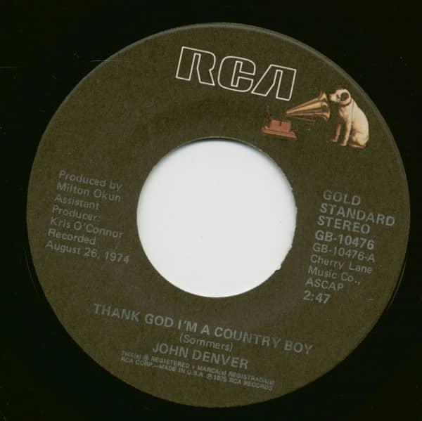Thank God I'm A Country Boy - My Sweet Lady (7inch, 45rpm)