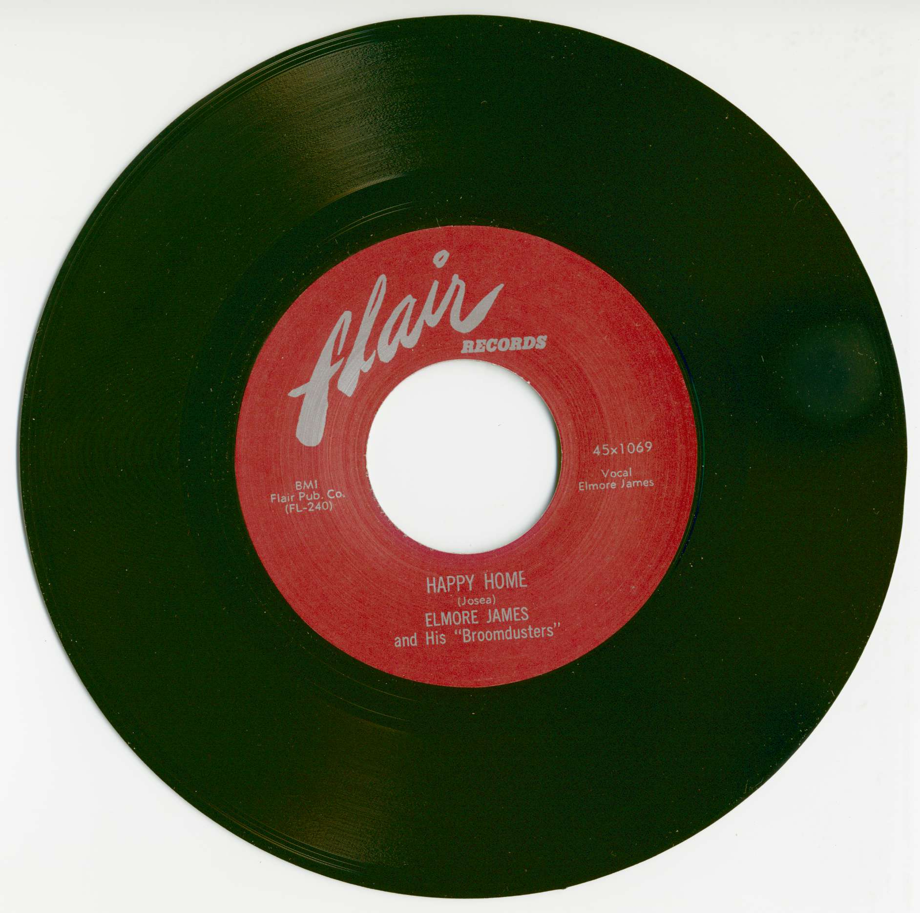 Elmore James 7inch: Happy Home b-w No Love In My Heart