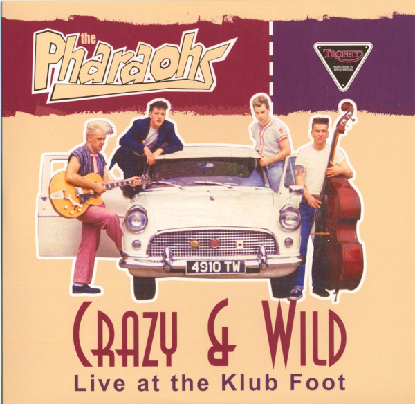 Crazy & Wild - Live At The Klub Foot (10inch LP, colored vinyl)