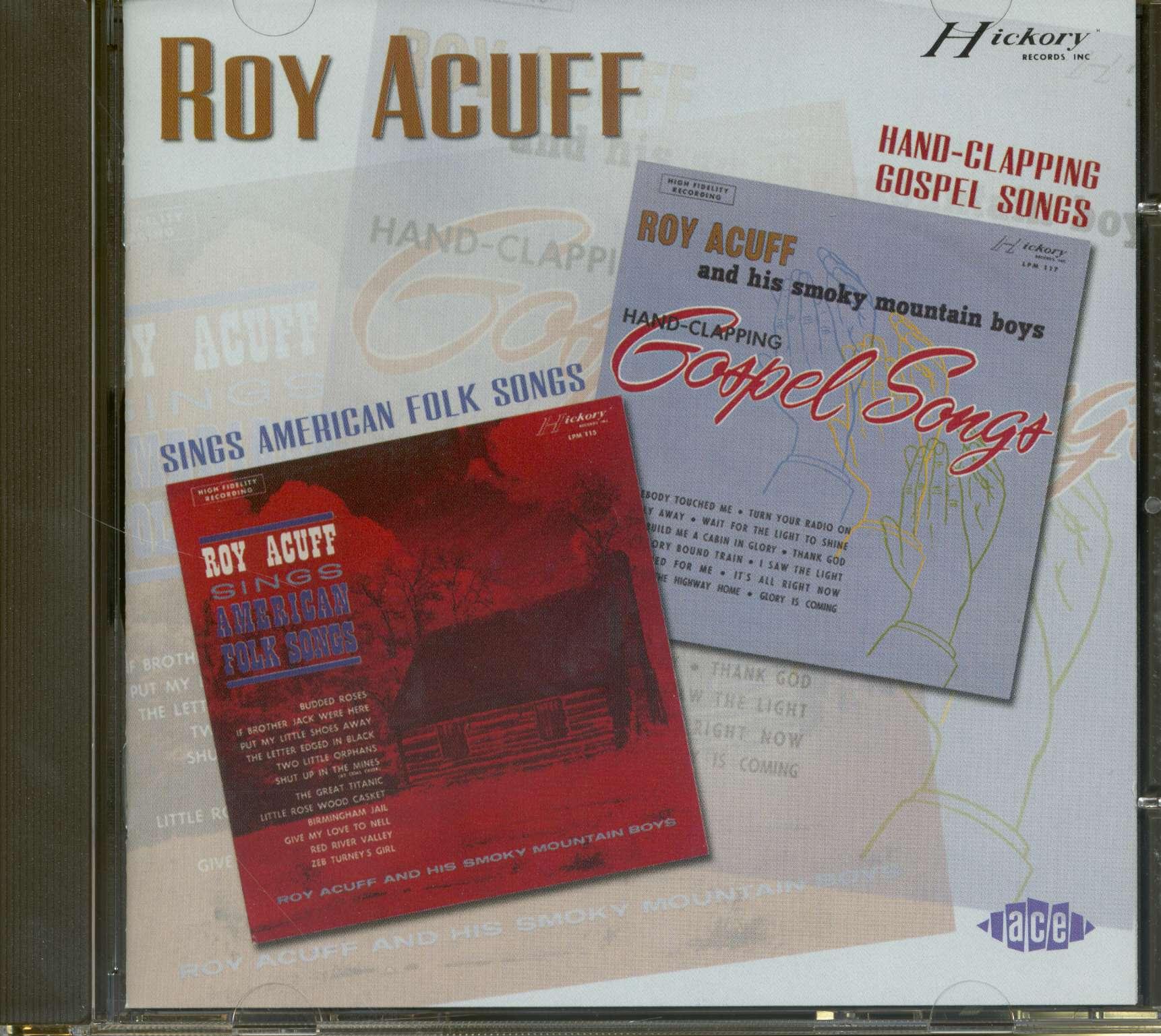 Roy Acuff Sings American Folk Songs & Hand Clapping Gospel Songs (CD)