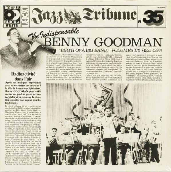 The Indespensable Benny Goodman - Birth Of A Big Band Vol. 1&2 (2-LP)
