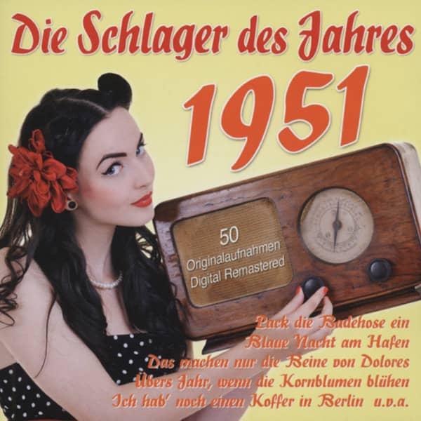 Die Schlager des Jahres 1951 (2-CD)