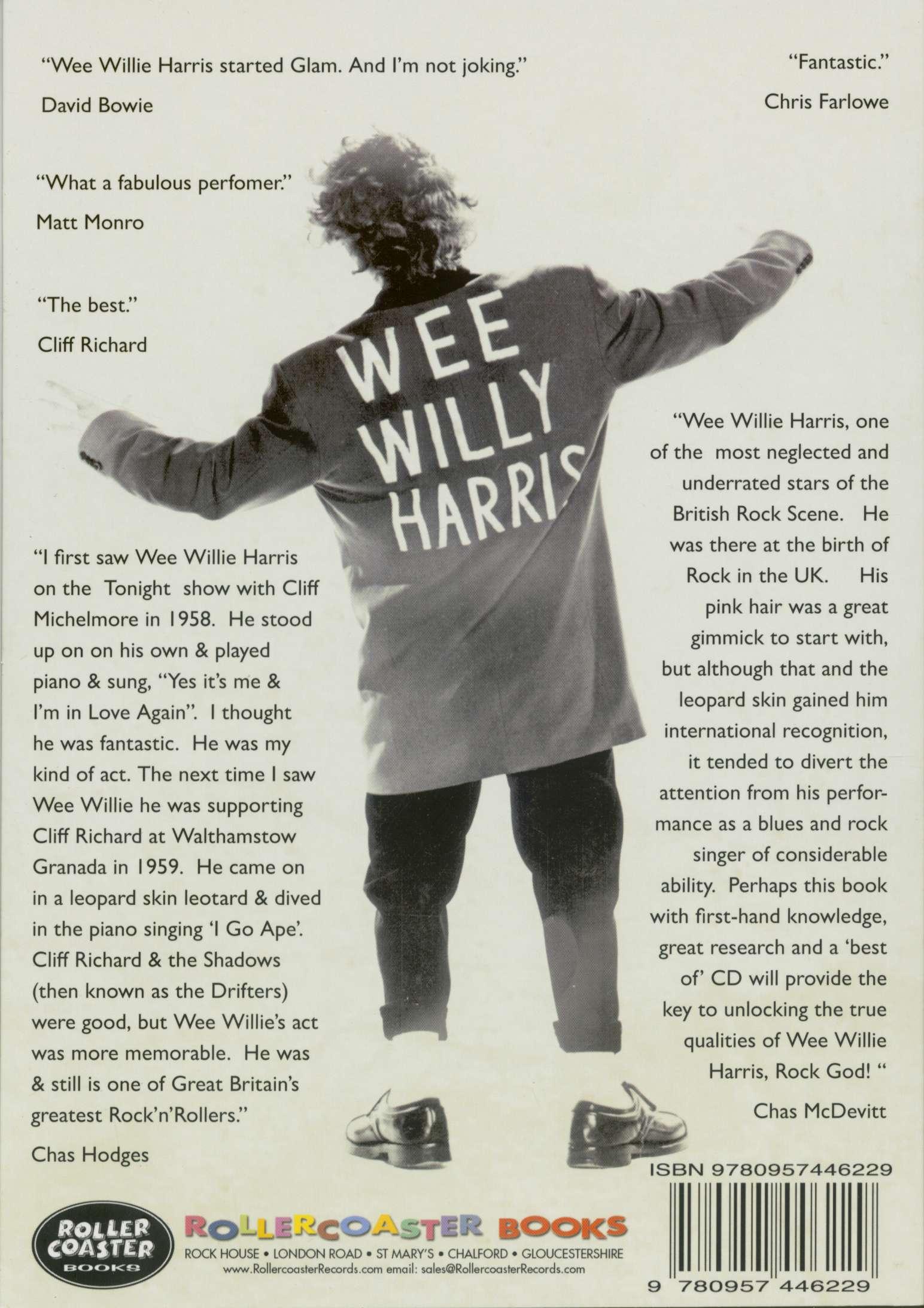 328549e35e9f Wee Willie Harris CD: I Go Ape! - The Wee Willie Harris Story (Book ...