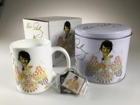 Elvis Presley - Porcelain Mug & Metal Keychain Gift Set in Presentation Tin Boxset