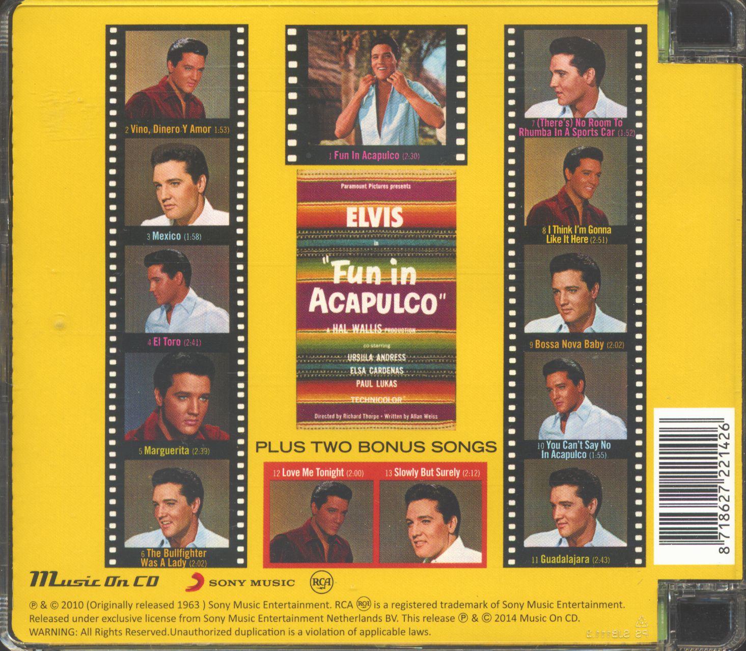 Elvis Presley Fun In Acapulco (CD Soundtrack, EU Version)